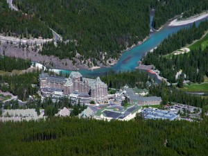 Banff Springs Hotel From Sulphur Mountain