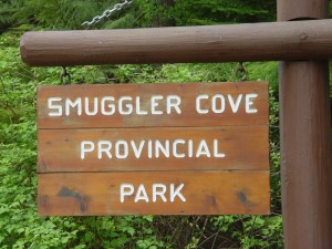 Smuggler Cove Sign