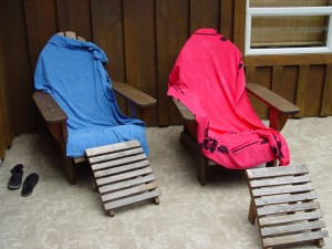 Adirondack Chairs On Our Deck