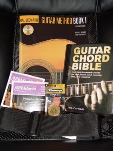 Books, Strings, Picks, Strap